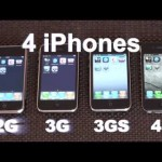 Speedtest - Zwischen iPhone 2g, iPhone 3g, iPhone 3gs und dem iPhone 4 (Video)